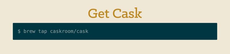 Homebrew Cask安装